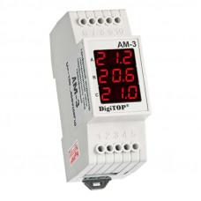 Амперметр цифровой трехфазный 380 В DigiTOP АМ-3